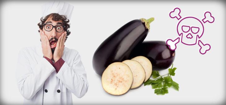 Le melanzane sono tossiche! Se mangiate crude o cucinate male!